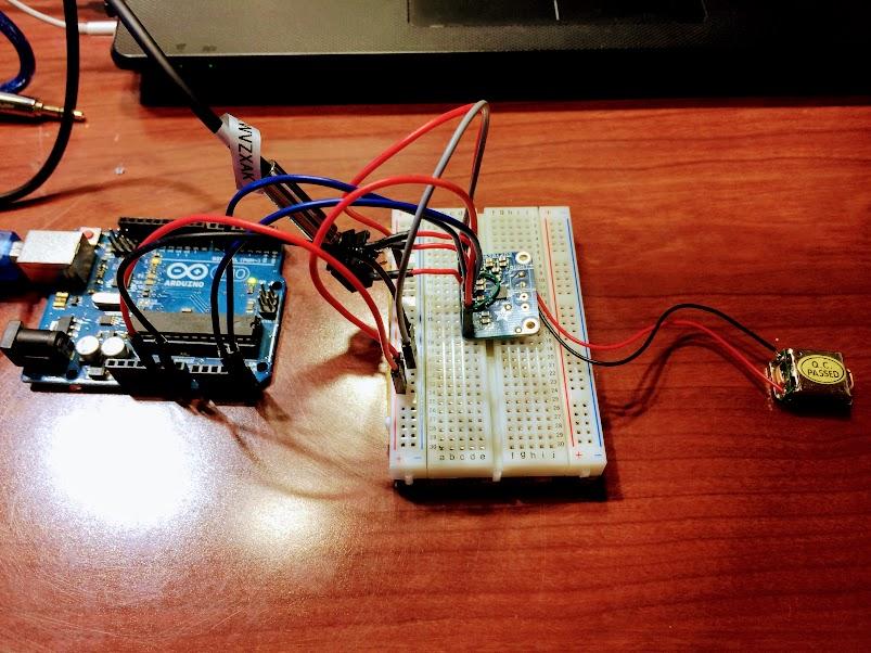Bone Conduction Speaker Experiment using I2C - KENTARO TANAKA